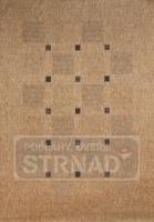 Kusový koberec buklé Floorlux Coffee/black 20079