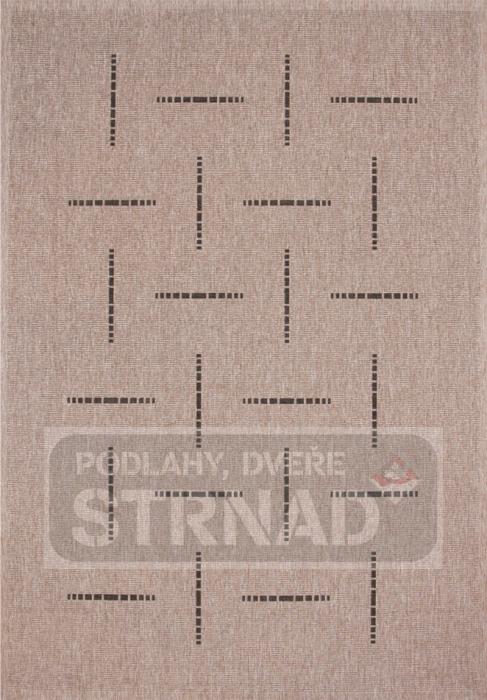 Kusový koberec buklé Floorlux Silver/black 20008
