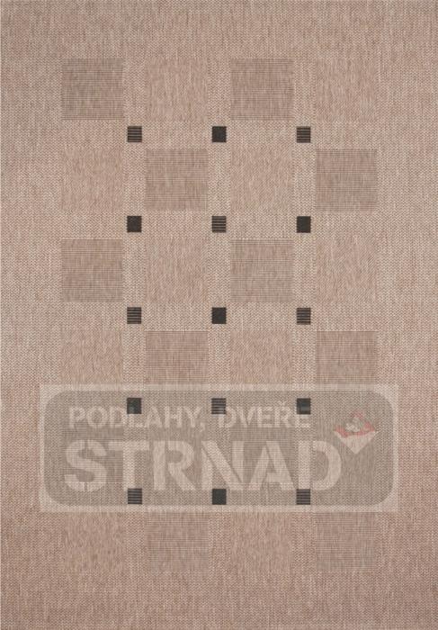 Kusový koberec buklé Floorlux Silver/black 20079
