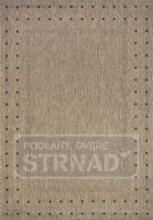 Kusový koberec buklé Floorlux Coffee/black 20329